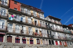 Colorful buildings in the Ribeira area of Porto