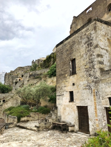 Entrances to cave rooms at Le Grotte della Civita