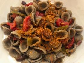 Orecchiette made with grano arso, a toasted durum wheat semolina