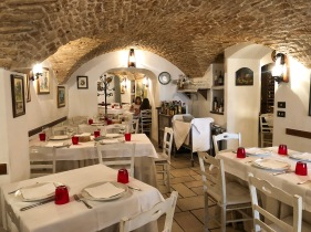 The interior of L'Antica Locanda