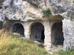 Entrance to a cave church in Parco della Murgia