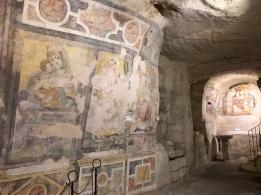 Frescos in the cave church at Convento di Sant'Agostino