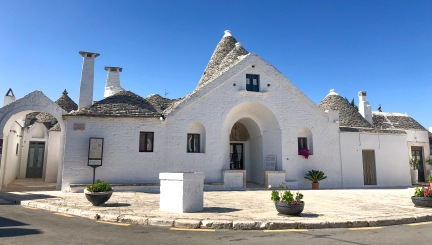 Trullo Sovrano, the only two story trullo