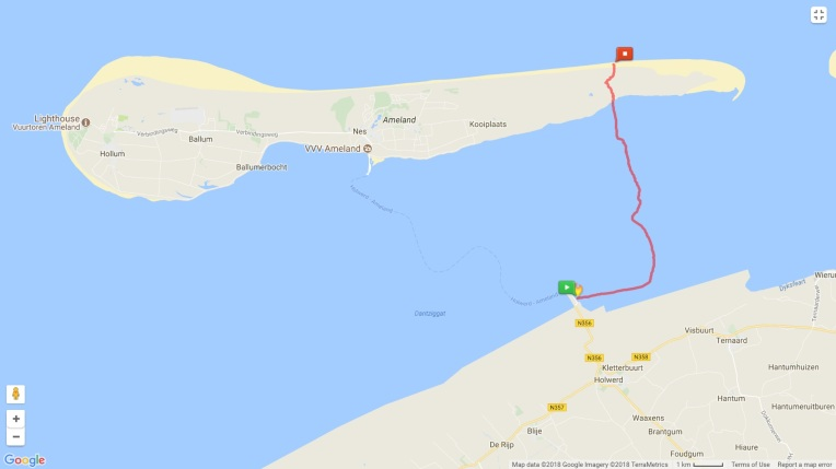 The route for our mudflat walk