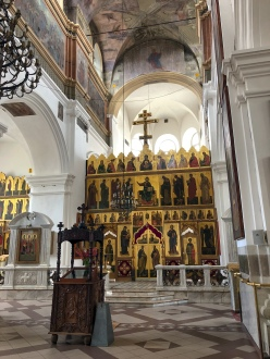 Interior of the Orthodox Cathedral of St. Peter and St. Paul