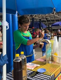 Kvass seller at Komarovskiy Market