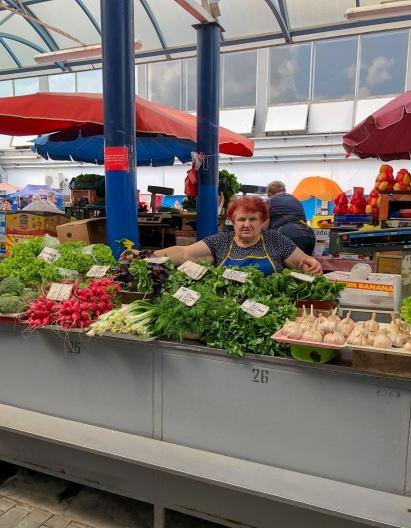 Vegetables for sale at Komarovskiy Market