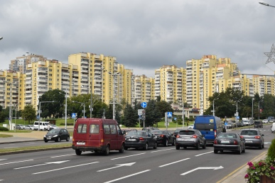 Apartment blocks in Minsk