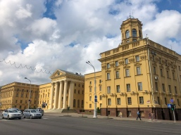 The KGB building in Minsk