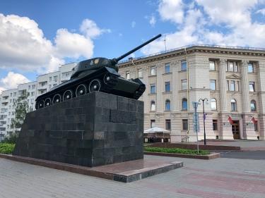 Tank monument in Minsk