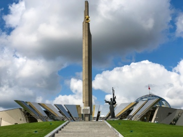 Hero City Monument in front of the Belarusian State Museum of the History of the Great Patriotic War