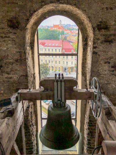 Inside the Vilnius Cathedral bell tower