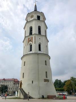 Vilnius Cathedral bell tower, once part of the city's defensive walls