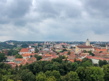 View of Vilnius from Gediminas Tower