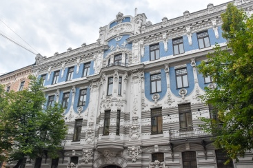 An Art Nouveau building in Riga