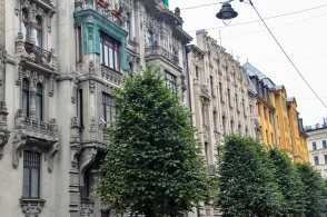 Art Nouveau buildings on Alberta iela in Riga