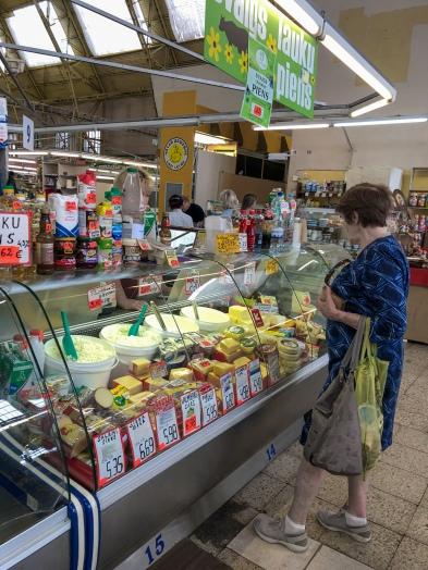 A shopper at Riga's Central Market