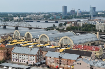 The hangars of Riga Central Market