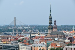 Old Town Riga as viewed from the Latvian Academy of Science