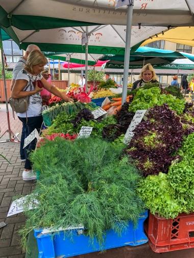 Vegetables for sale at the Central Market