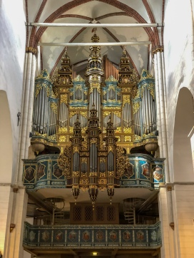 The historic organ in Riga Cathedral