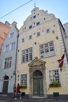 "The historic ""three brothers""—the oldest dwellings in Riga"