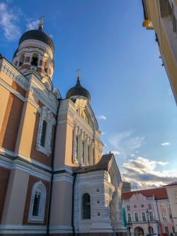 Morning at Alexander Nevsky Cathedral