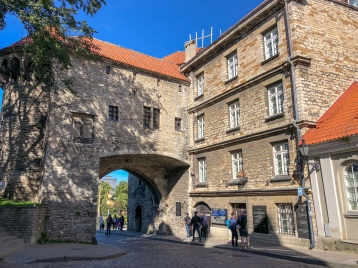 Tallinn's Great Coastal Gate in the old city wall