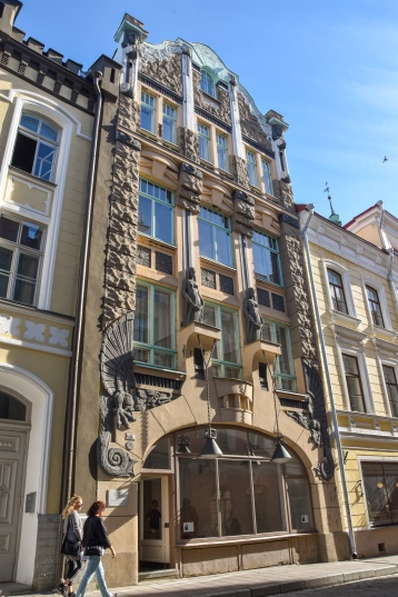 An art nouveau building in Old Town Tallinn
