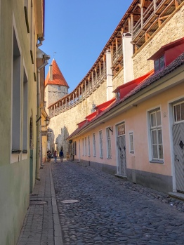 Part of Tallinn's old city walls