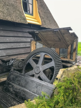 Part of the gears used to move the water at the polder windmill Achthovense Molen