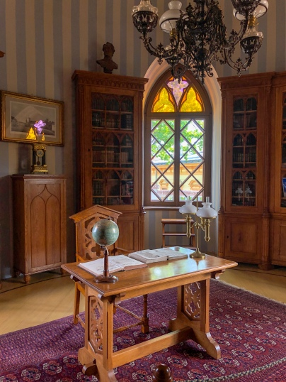 The study in the more modern part of Cēsis Castle