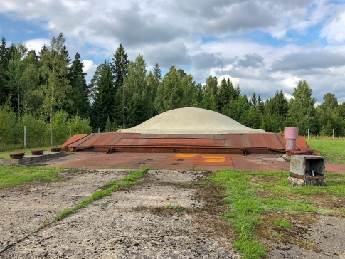 The top of an old Soviet missile silo