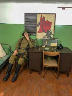 A re-creation of a room in the Soviet missile bunker, now the Cold War Museum