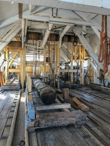 The interior of the Heesterboom sawmill