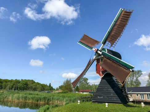 Kikkermolen, the smallest windmill in Leiden