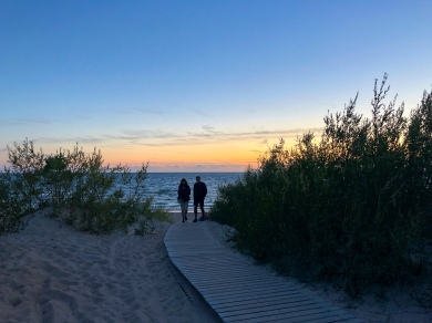 Walking in the dunes of Palanga, Lithuania