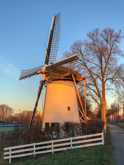 Sunrise at Rodenburger windmill in Leiden
