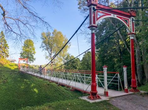 A Victorian-era bridge in Viljandi, Estonia