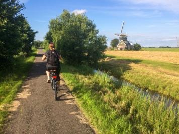 Biking to the windmills in Leiderdorp