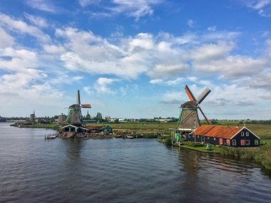 The windmills at Zaanse Schans