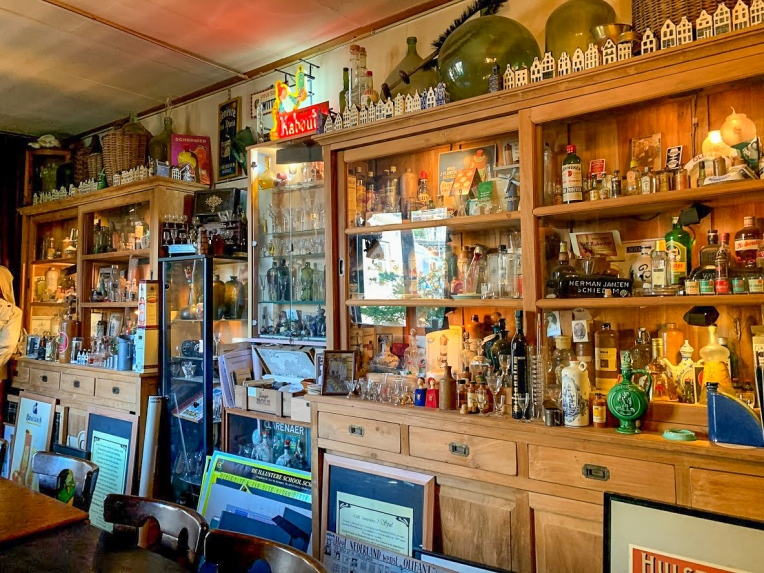 The small jenever museum in the back of Cafe 't Spul
