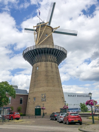 Nolet distillery's modern windmill, built to look like Schiedam's other historic mills