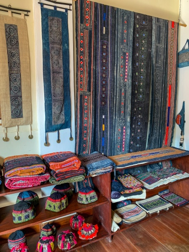 Recycled fabric creations at Hilltribe Heritage