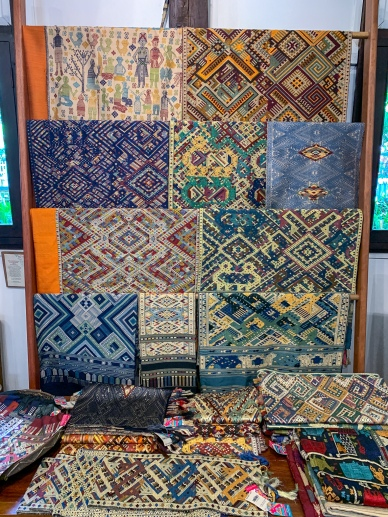 Traditional textiles at Ock Pop Tok