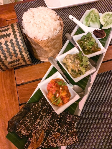 An assortment of Laotian dips at Tamarind