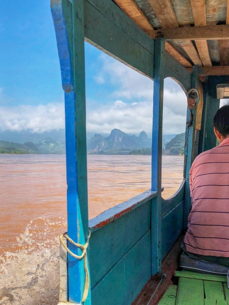 Boat ride up the Mekong River to Pak Ou Caves