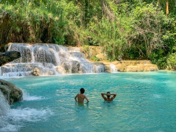 Swimming hole at Kuang Si Falls