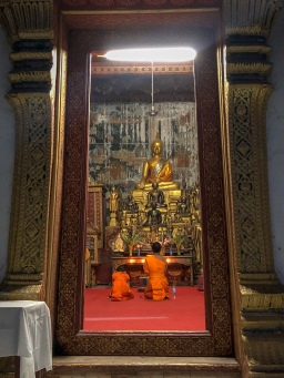 Monks at Wat Siphoutthabath
